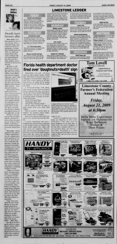 Athens News Courier, August 14, 2009, p. 15