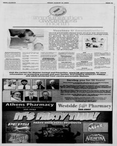 Athens News Courier, August 14, 2009, p. 14