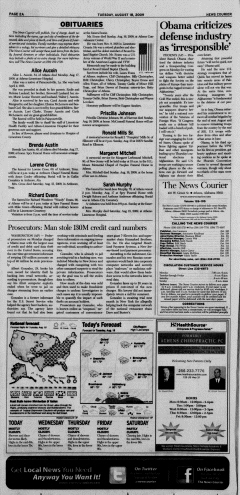 Athens News Courier, August 18, 2009, p. 3