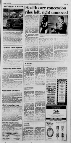 Athens News Courier, August 18, 2009, p. 5