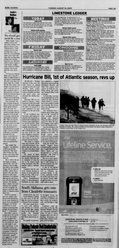 Athens News Courier, August 18, 2009, p. 9