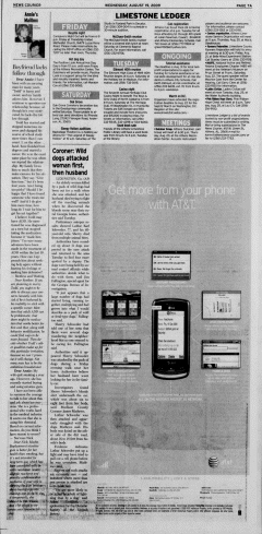 Athens News Courier, August 19, 2009, Page 13
