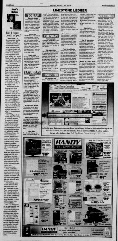 Athens News Courier, August 21, 2009, Page 11