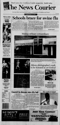 Athens News Courier newspaper archives