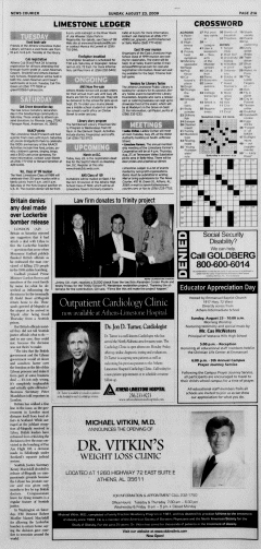 Athens News Courier, August 23, 2009, Page 41