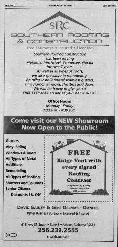 Athens News Courier, August 23, 2009, Page 63