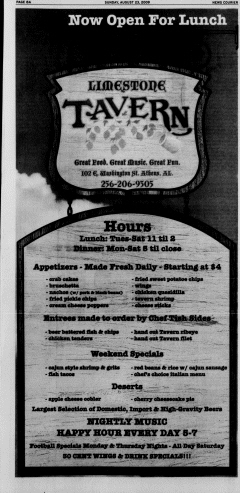 Athens News Courier, August 23, 2009, Page 16