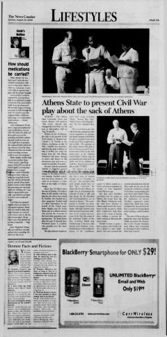 Athens News Courier, August 23, 2009, Page 18