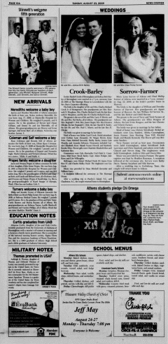Athens News Courier, August 23, 2009, Page 20