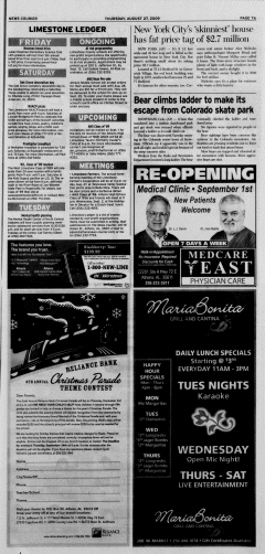 Athens News Courier, August 27, 2009, p. 13