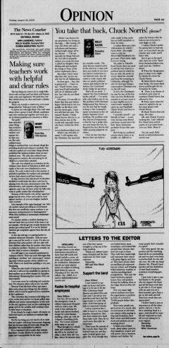 Athens News Courier, August 30, 2009, p. 7
