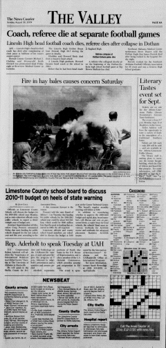 Athens News Courier, August 30, 2009, p. 11