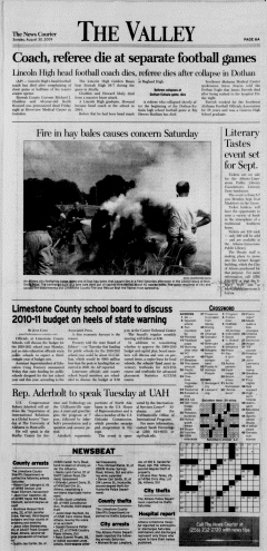 Athens News Courier, August 30, 2009, Page 12