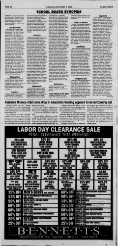 Athens News Courier, September 03, 2009, Page 12