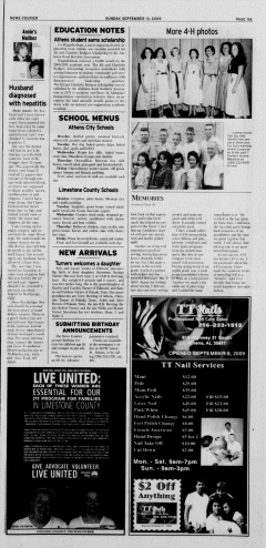 Athens News Courier, September 13, 2009, Page 21