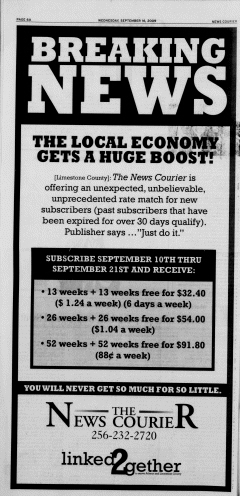 Athens News Courier, September 16, 2009, Page 6