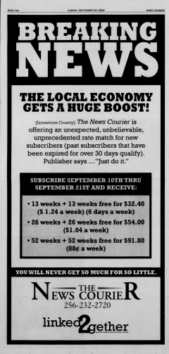 Athens News Courier, September 20, 2009, Page 23