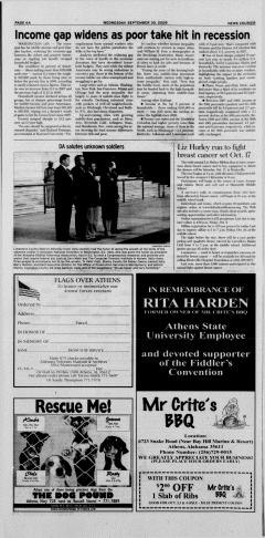 Athens News Courier, September 30, 2009, Page 12