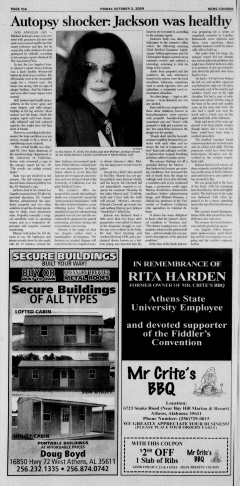 Athens News Courier, October 02, 2009, Page 19