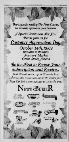 Athens News Courier, October 08, 2009, Page 20