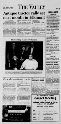 Athens News Courier, October 18, 2009, p. 11