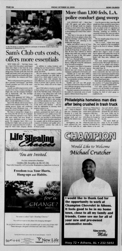 Athens News Courier, October 23, 2009, Page 15