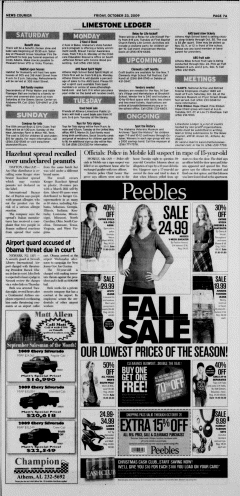 Athens News Courier, October 23, 2009, Page 14