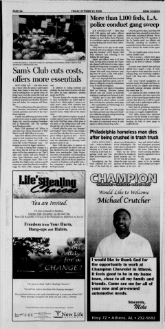 Athens News Courier, October 23, 2009, Page 16