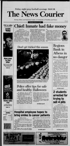 Athens News Courier, October 24, 2009, p. 2