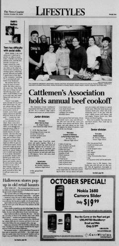 Athens News Courier, October 25, 2009, p. 17