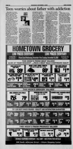 Athens News Courier, November 04, 2009, Page 36