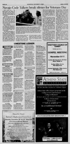 Athens News Courier, November 11, 2009, Page 11