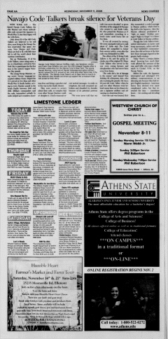 Athens News Courier, November 11, 2009, Page 12