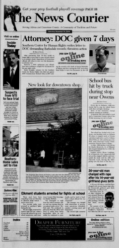 Athens News Courier, November 14, 2009, Page 1