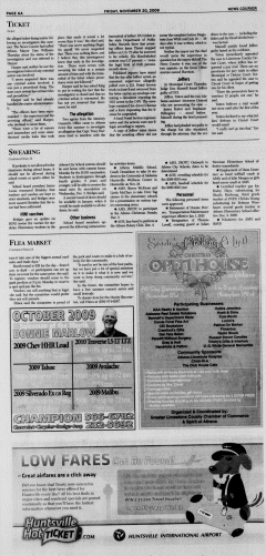 Athens News Courier, November 20, 2009, Page 11