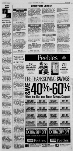 Athens News Courier, November 20, 2009, Page 21
