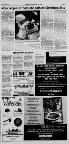 Athens News Courier, November 25, 2009, Page 13