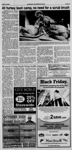 Athens News Courier, November 25, 2009, Page 17