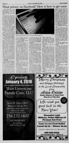 Athens News Courier, December 20, 2009, Page 23