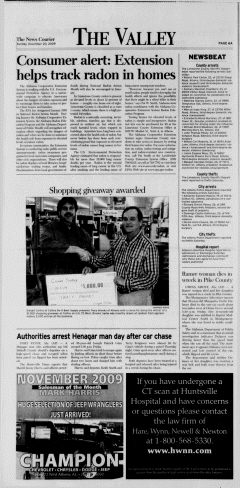 Athens News Courier, December 20, 2009, Page 12