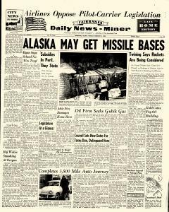 Fairbanks Daily News Miner, February 09, 1960, Page 1