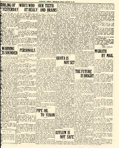 Fairbanks Weekly News Miner and Daily Citizen, January 28, 1921, Page 15