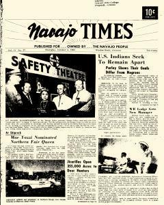 Navajo Times, October 03, 1963, Page 1