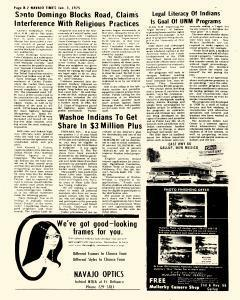 Navajo Times, January 03, 1975, Page 14