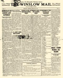 Winslow Mail, August 20, 1910, Page 1
