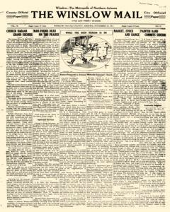Winslow Mail, November 25, 1911, Page 1