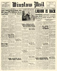 Winslow Mail, December 08, 1933, Page 1