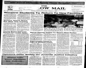 Winslow Mail, August 21, 1996, Page 1