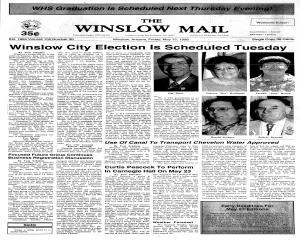 Winslow Mail, May 15, 1998, Page 1
