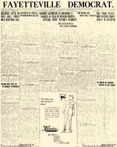 Daily Fayetteville Democrat, June 17, 1916, Page 1